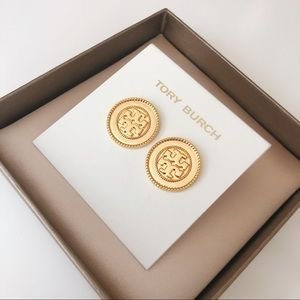 Tory Burch Gold Coin Stud Earring